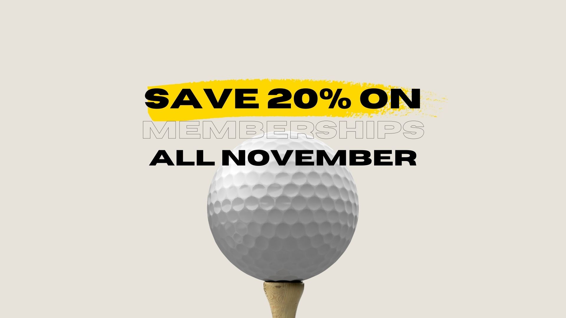 Get 20% OFF memberships all November long!